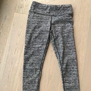 Grey marbled yoga tights